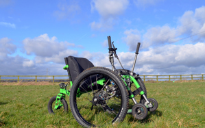 Mountain Trike, lever drive all terrain wheelchair