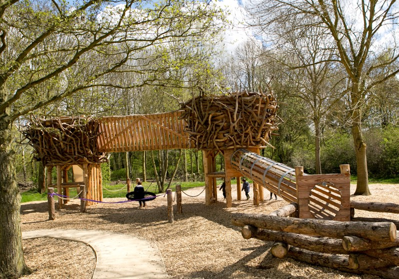 badger play park is a wooden playground in nene park