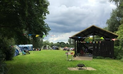 campsite at Ferry Meadows
