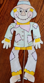 dancing scarecrow on a stick craft activity