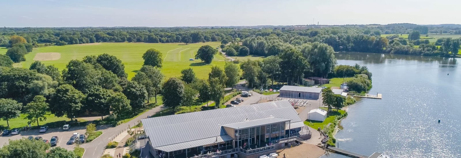 aerial view of Watersports centre