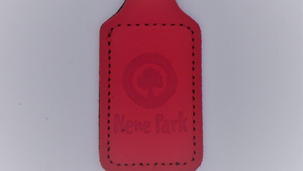 Nene Park Recycled Leather Effect Keyring - Red