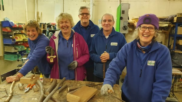 Woodwork volunteers