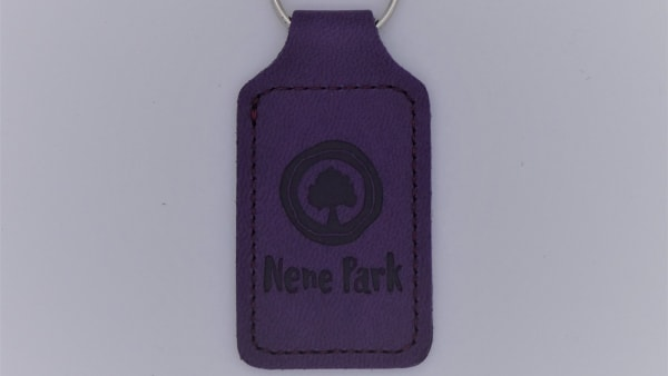 Nene Park Recycled Leather Effect Keyring - Purple