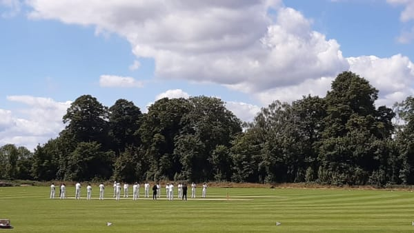 cricket match  taking place at woodlands in castor