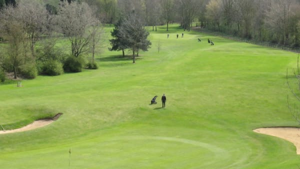view overlooking a golf course in Nene Park