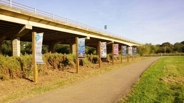 rivers of the world competition artwork displayed in Nene Park
