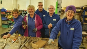 Woodcraft volunteers